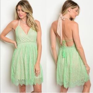 NWT Lace Halter Dress